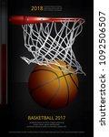 basketball poster advertising... | Shutterstock .eps vector #1092506507
