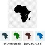 map of africa | Shutterstock .eps vector #1092507155