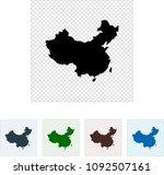 map of china | Shutterstock .eps vector #1092507161