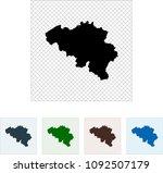 map of belgium | Shutterstock .eps vector #1092507179