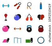 solid vector ixon set   barbell ... | Shutterstock .eps vector #1092510419