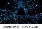 3d render abstract background.... | Shutterstock . vector #1092512909