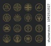 nature monogram logo  minimal... | Shutterstock .eps vector #1092513527
