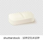 realistic medical pill isolated ... | Shutterstock .eps vector #1092514109
