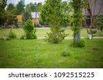 landscape design near the house | Shutterstock . vector #1092515225
