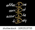 team   effective  correct ...   Shutterstock .eps vector #1092515735