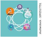 science science equipment atom... | Shutterstock .eps vector #1092517751