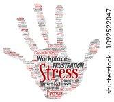 vector conceptual mental stress ... | Shutterstock .eps vector #1092522047