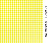 Yellow Gingham With Fabric...