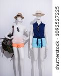 two mannequin in female shirt... | Shutterstock . vector #1092527225