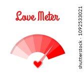 love meter. the speedometer of... | Shutterstock .eps vector #1092533021