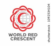 world red crescent red cross day | Shutterstock .eps vector #1092534104