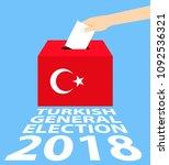 turkish general elections 2018...   Shutterstock .eps vector #1092536321