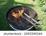 cutlery for sausages barbecue... | Shutterstock . vector #1092540164