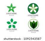 vector leaves green nature logo ... | Shutterstock .eps vector #1092543587