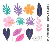 vector collection of  tropical... | Shutterstock .eps vector #1092551867