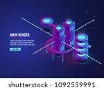 server room concept  smart city ... | Shutterstock .eps vector #1092559991