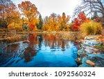 new zealand queenstown garden... | Shutterstock . vector #1092560324