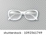 glasses isolated on transparent ... | Shutterstock .eps vector #1092561749