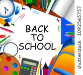 back to school | Shutterstock . vector #1092565757