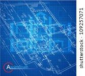 urban blueprint  vector .... | Shutterstock .eps vector #109257071