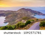 southern greece mani peninsula. ... | Shutterstock . vector #1092571781