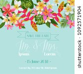 wedding invitation template... | Shutterstock .eps vector #1092571904