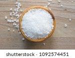 top view of salt or sea salt in ... | Shutterstock . vector #1092574451