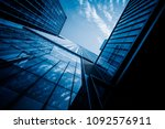 low angle view of skyscrapers... | Shutterstock . vector #1092576911