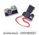 cameras set isolated colorful... | Shutterstock .eps vector #1092580037
