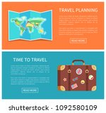 travel planning web pages text... | Shutterstock .eps vector #1092580109
