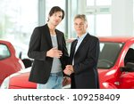 mature single man with red auto ... | Shutterstock . vector #109258409