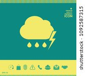 cloud thunderstorm lightning... | Shutterstock .eps vector #1092587315