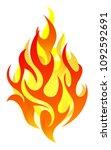 vector fire design elements | Shutterstock .eps vector #1092592691