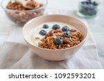 home made healthy granola muesli | Shutterstock . vector #1092593201