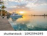 egypt  port ghalib  a beautiful ... | Shutterstock . vector #1092594395