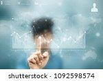 2d rendering stock market... | Shutterstock . vector #1092598574
