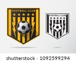 soccer or football badge logo... | Shutterstock .eps vector #1092599294