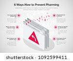 simple vector infographic for 6 ... | Shutterstock .eps vector #1092599411