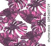 tropical pattern. seamless...   Shutterstock .eps vector #1092605729