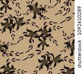 little flowers. seamless...   Shutterstock .eps vector #1092610289