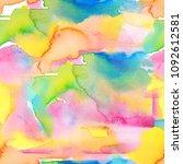 abstract watercolor hand... | Shutterstock . vector #1092612581