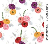 seamless pattern with...   Shutterstock .eps vector #1092615041