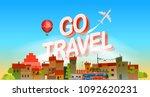 go travel concept. vector... | Shutterstock .eps vector #1092620231