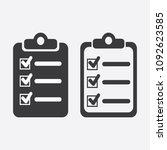 the checklist icon. clipboard...   Shutterstock .eps vector #1092623585