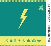 thunderstorm lightning icon | Shutterstock .eps vector #1092626369
