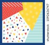 artistic scarf pattern design | Shutterstock .eps vector #1092626747