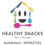 kids cooking school logo design | Shutterstock .eps vector #1092627161