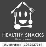 kids cooking school logo design | Shutterstock . vector #1092627164