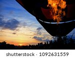 Small photo of fire in aerostatic balloon